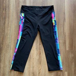 Gap Fit Multi Black Cropped Leggings M